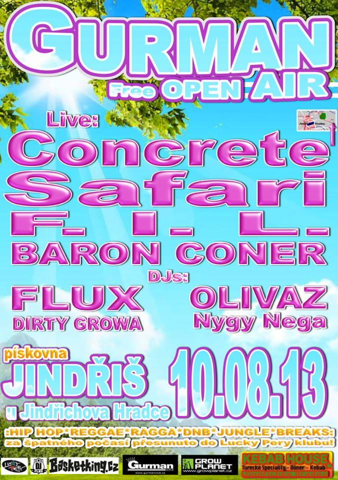 ★ GURMAN OPEN AIR ★ - HIP HOP, REGGAE, DnB mini fest !